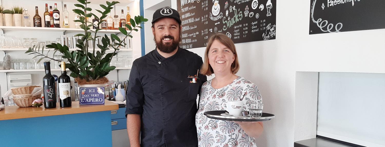 Café Rorboz Foto des Wirtepaars Bruno Soares Da Silva und Dominique Romanescu
